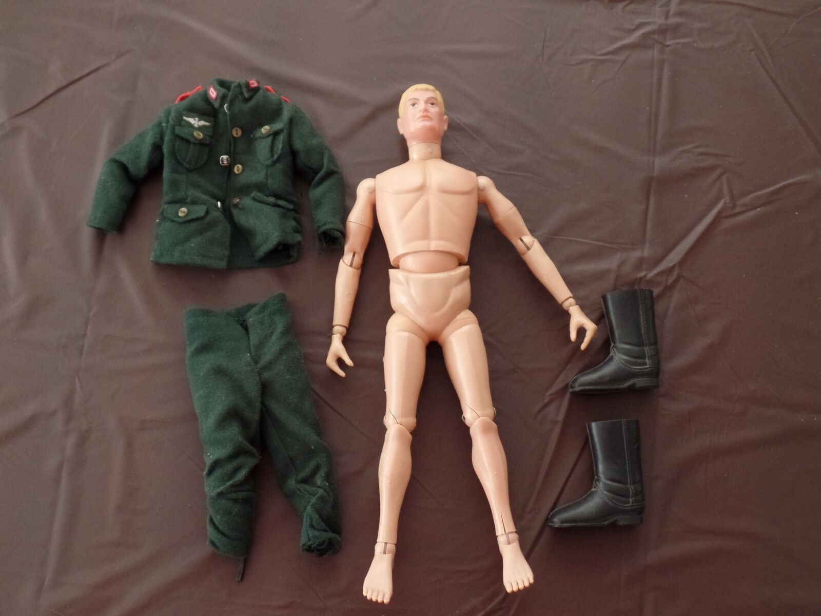VINTAGE GI JOE 12  ACTION FIGURE  GERMAN WITH OUTFIT AND Stiefel 1966