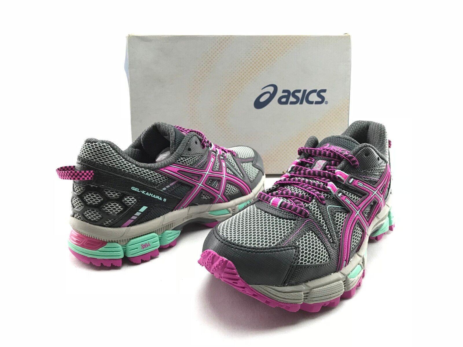 NEW Asics Gel Kahana 8 Wpomen's Purple Lace Up Running Training Shoes US 6 B427 Cheap and beautiful fashion