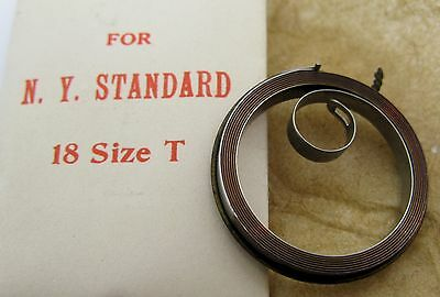 Nos New York Standard NYS 18s model with T end Mainspring 1 piece