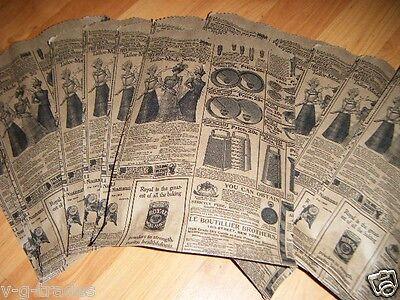 LOT 25 6x9 Newspaper print Paper Kraft Bags,Vintage style Newsprint Favor Craft