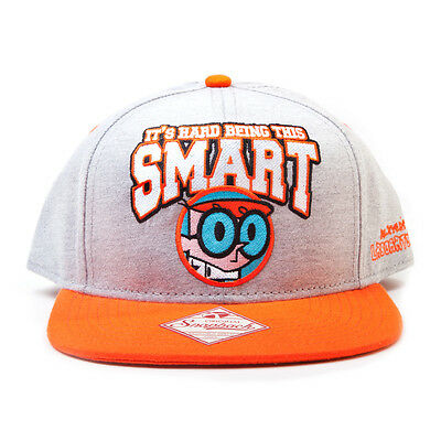 AWESOME DEXTER'S LABORATORY 'ITS HARD BEING THIS SMART' SNAPBACK CAP HAT *NEW*