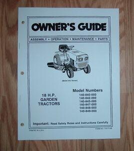 mtd 140 843 garden tractor owner operator manual 770 7118 ebay rh ebay com MTD Yard Machines Parts Manual Service Manual for MTD Mowers