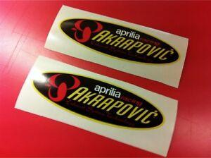 2 piccoli 1 AKRAPOVIC DUCATI Adesivo resistente calore