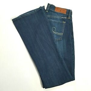 LUCKY-BRAND-Womens-SOFIA-BOOT-Mid-Rise-Boot-Cut-Jeans-Dark-Wash-Size-4-REGULAR