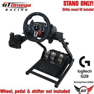 GT OMEGA Foldable Adjustable Steering Wheel Stand for Logitech G920 Racing Wheel