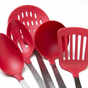 '5-Piece-Kitchen-Utensil-Set-Stainless-Steel-Nylon-Tools' from the web at 'https://i.ebayimg.com/images/g/zCQAAOSwIgNXqirV/s-l300.jpg'