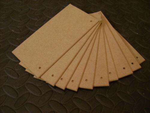 """5/"""" X 3/"""" de calidad superior 4mm midite permier MDF de madera placas signos espacios en blanco 12"""