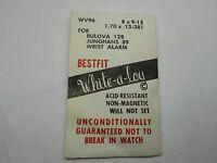 One Junghans 89, Bulova 12b Wrist Alarm Mainspring White Allow Best One