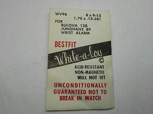 ONE JUNGHANS 89, BULOVA 12B WRIST ALARM MAINSPRING NEW WHITE ALLOW BEST ONE