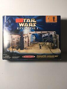 Vintage-Galoob-Action-Fleet-Star-Wars-Episode-I-Podracer-Hangar-Bay-In-NIB-1998