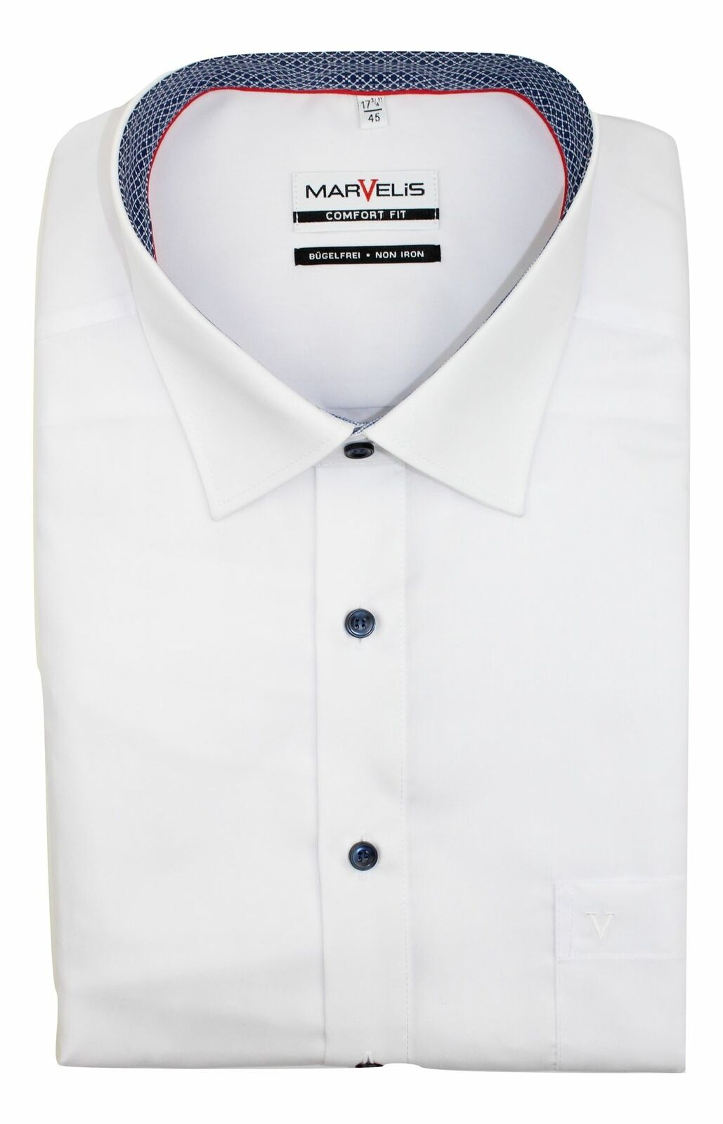 White (Patch Contrast) Spread Collar