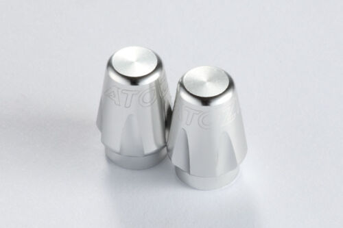 Silver x2 ATOZI Bicycle Cycling Tire Schrader Valve Cap American US Seller