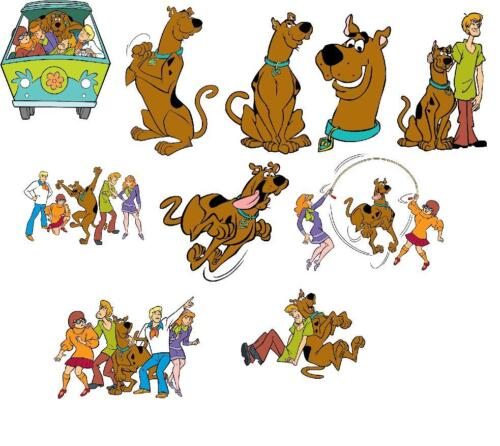 10 SCOOBY DOO WALL STICKER wall decal 3 SIZES VINYL PHOTOPAPER
