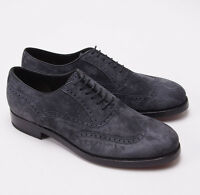 $1350 Brioni Charcoal Gray 'cashmere Calfskin' Wingtip Oxford Us 9.5 Shoes on sale