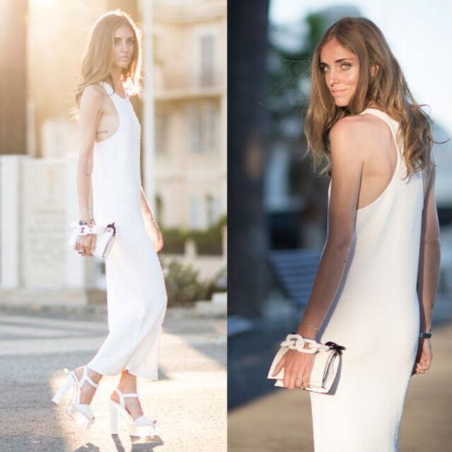 Women's Summer Sleeveless Evening Party Beach Dress Long Dress Sundress