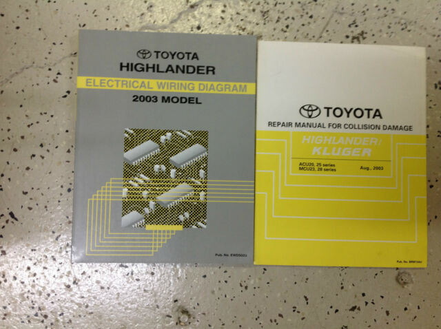 2003 Toyota Highlander Electrical Wiring Diagram