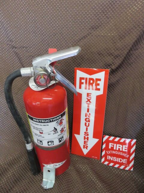 1-5lb ABC Fire Extinguisher W2018 Certification Tag Wall Hook-2 ...