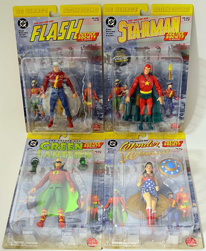 JUSTICE SOCIETY Wonder Frau Flash Starman Grün Latern 4 DC Action Figures