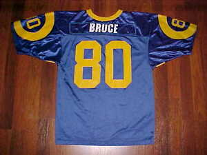 Wilson NFL NFC St. Louis Rams Isaac Bruce 80 Blue Yellow Youth ... 79424ea22