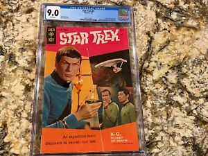 STAR-TREK-1-CGC-9-0-RARE-WHITE-PAGES-HUGE-LOW-POPULATION-IN-HIGH-END-GOLD-KEY