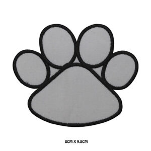 PAW DOG PAW Embroidered Iron on Patch Sew On Badge