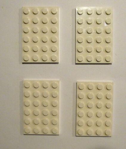 Basic 4x6 in bianco piatto bebaubar su entrambi i lati Merce Nuova 4 X LEGO ® 3032 bauplatte