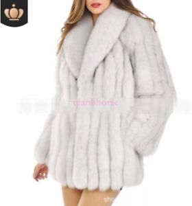 Kvinder Winter Jakke Big Outwear Fur Coat Warm Thicken Overcoat Real Sz Fox Parka zqrzp4