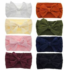 8-Pack-Super-Stretchy-Knotted-Hair-Bow-Nylon-Wide-Headbands-Turban-Headwraps
