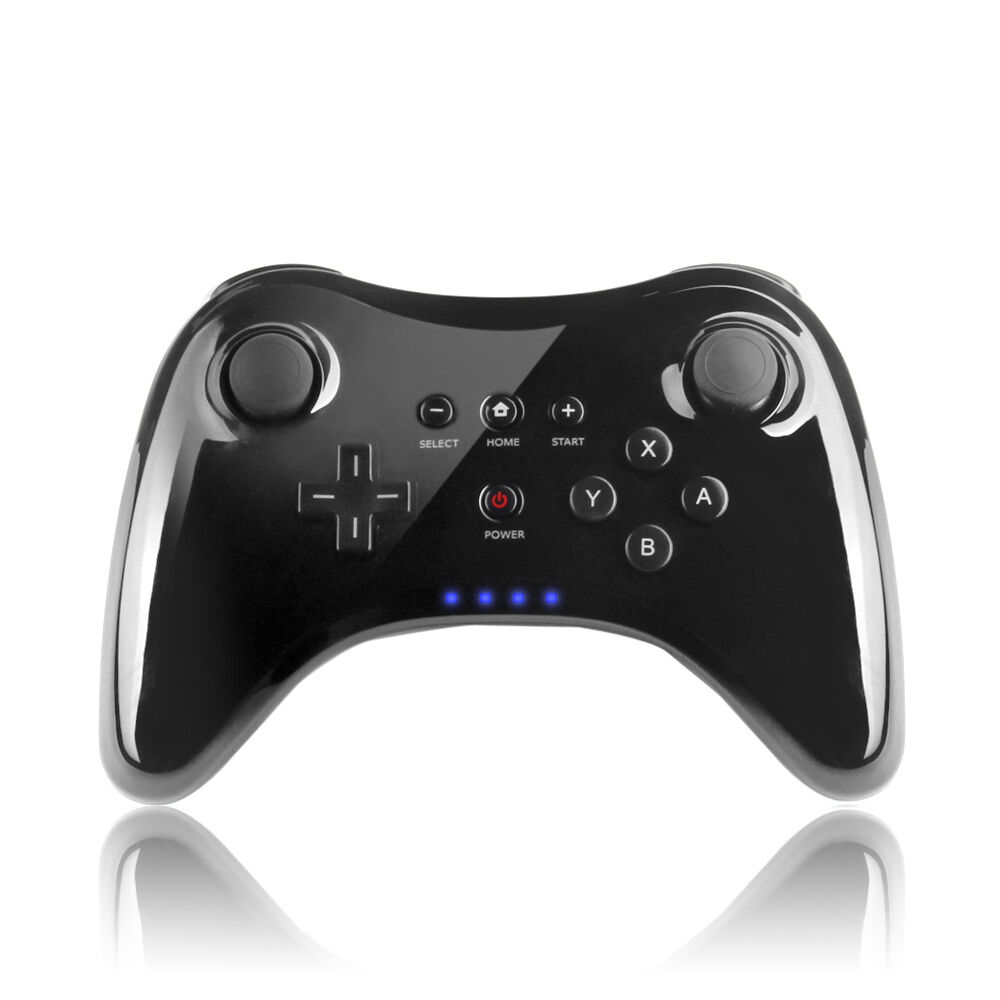 black high quality wii u pro bluetooth wireless controller. Black Bedroom Furniture Sets. Home Design Ideas