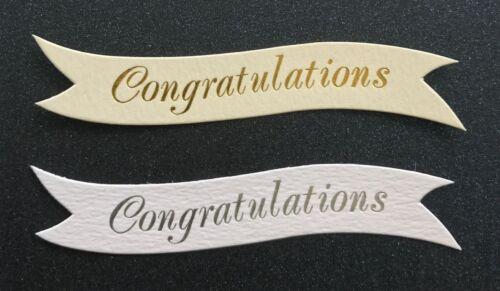Enhorabuena pancartas//Tarjeta Toppers en tablero de 300gsm pk10