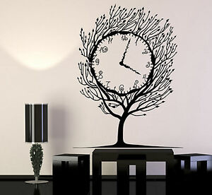 Image is loading Vinyl-Wall-Decal-Art-Tree-Clock-Salvador-Dali- & Vinyl Wall Decal Art Tree Clock Salvador Dali Home Decor Stickers ...