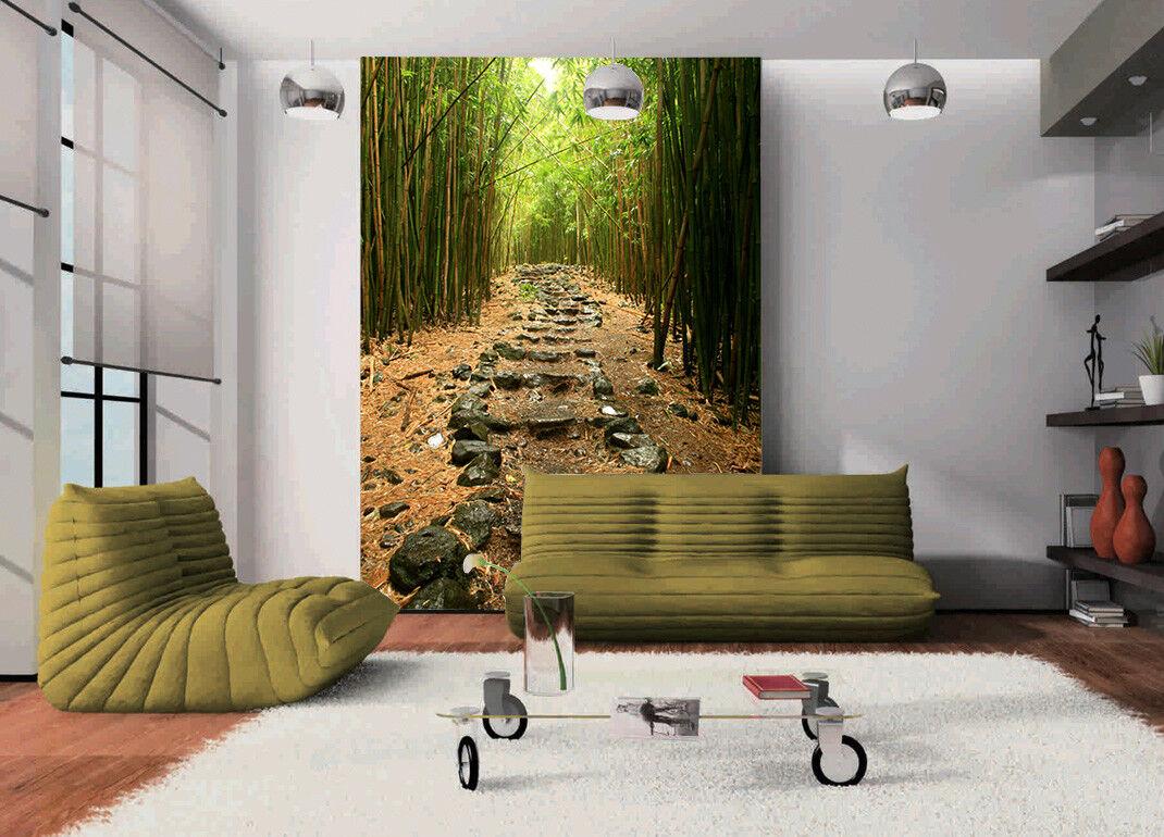 3D Grüner Waldweg 584 Tapete Tapeten Mauer Foto Familie Tapete Wandgemälde DE
