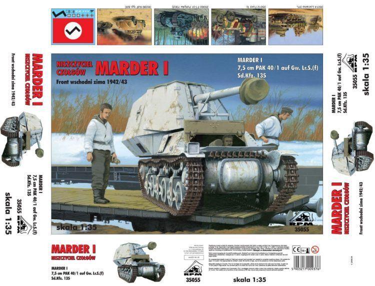 RPM 1 35 Marder I 7.5cm Pak 40 1 auf Gw. Lr.S. (f) Sd.Kfz.135