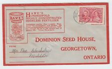 Dominion SEED HOUSE advertising Coronation Canada cover front&back