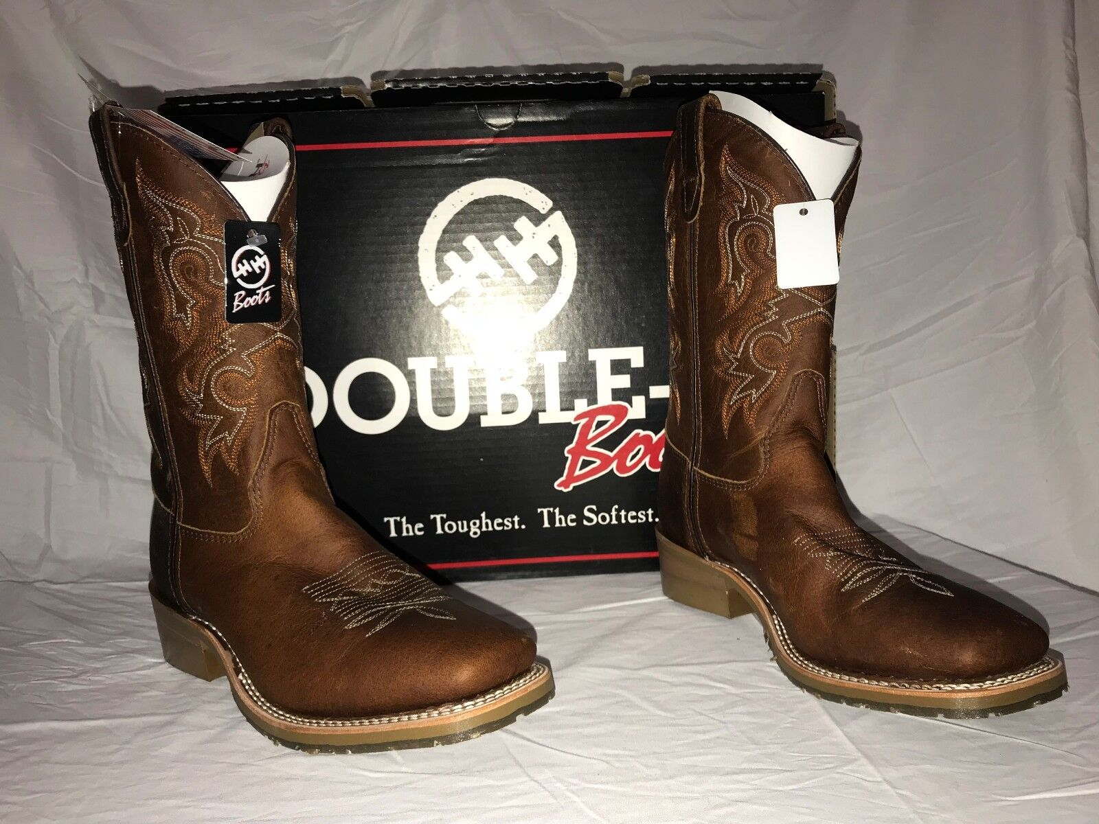 Double H Men's Brown 12IN Gel Square Toe Western Work Boots DH4628 NIB