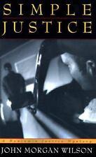 Simple Justice a Benjamin Justice Mystery by John Morgan Wilson hardcover gay