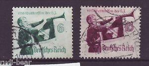 Deutsches Reich Nr.   584-85   gest.  Treffen der HJ    -50
