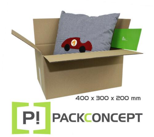 Faltkarton 1-wellig 400 x 300 x 200 mm; Karton; Pappkarton; Versandkarton