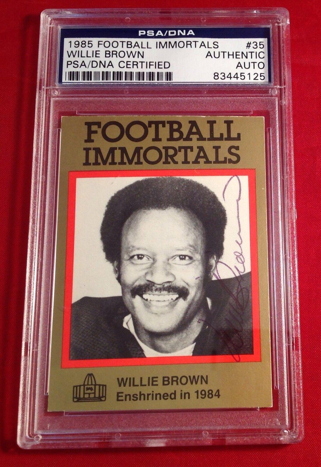 Willie Brown 1985 Football Immortals Card PSA/DNA Slabbed #83445125