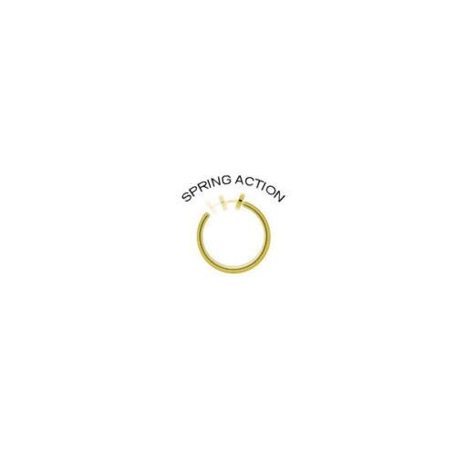 NON-Piercing Pezón Cadena de oro plateado