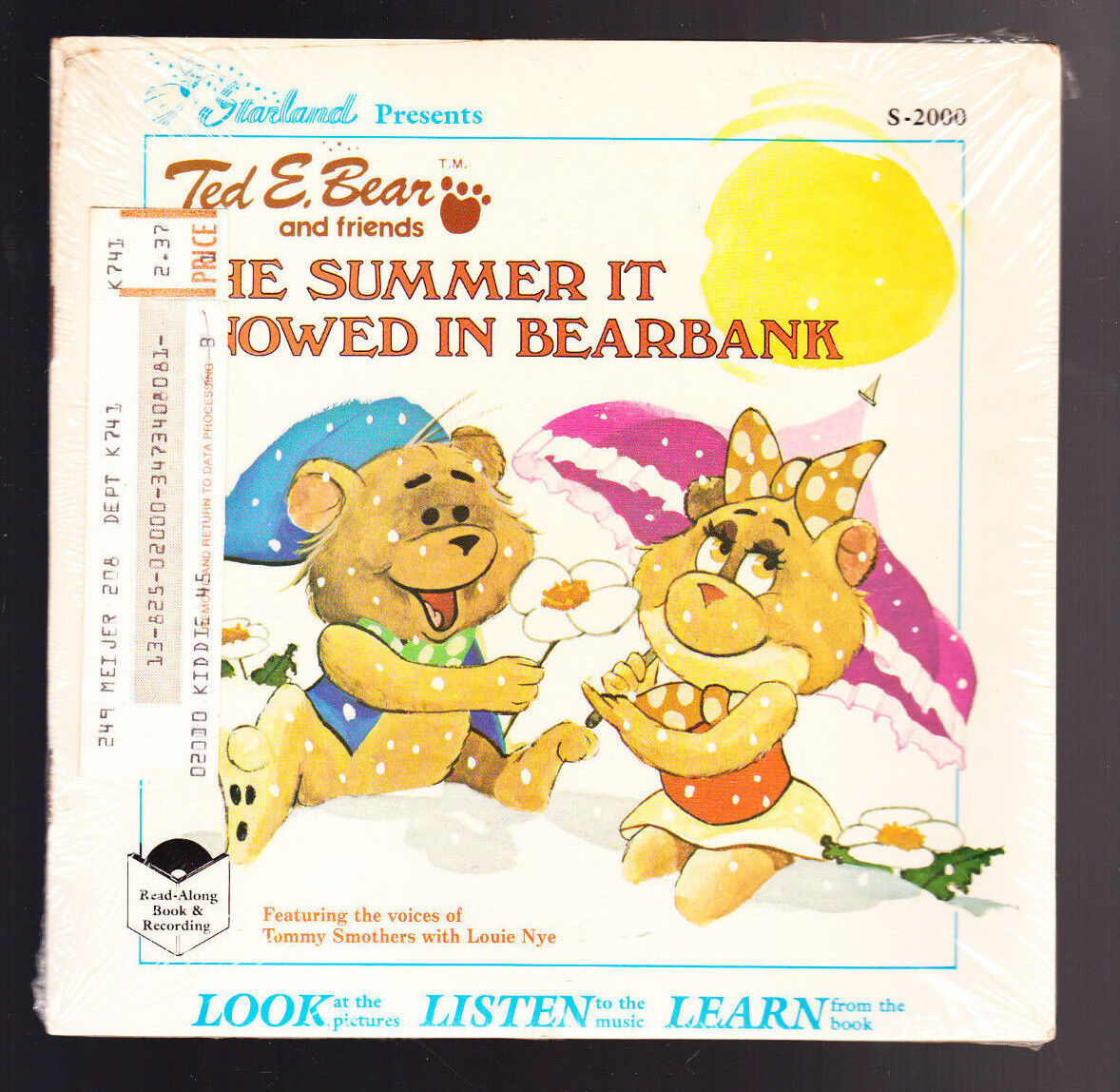 31 LOT STARLAND TED E BEAR READ ALONG BOOK + RECORD SNOWED IN BEARBANK IN SPACE