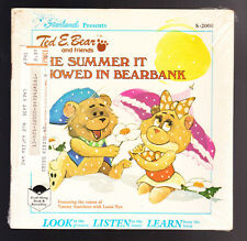 8 LOT STARLAND TED E BEAR READ ALONG BOOK + RECORD SNOWED IN BEARBANK IN SPACE