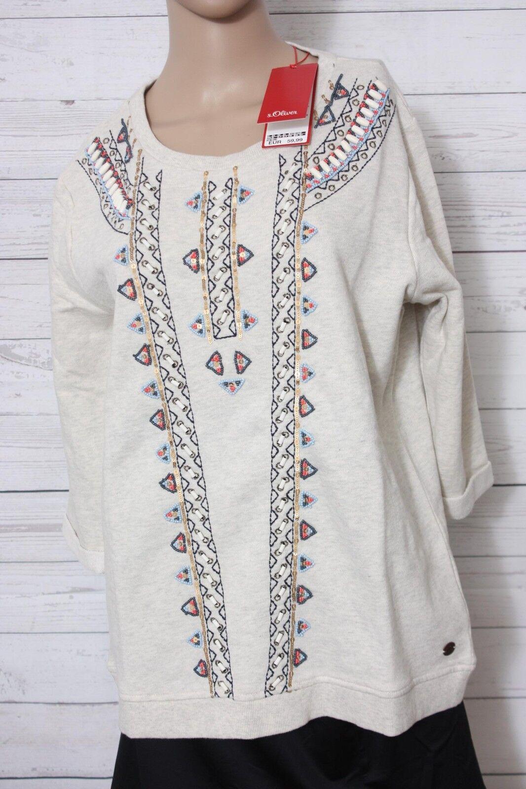 S.Oliver Damen Damen Damen Sweatshirt, Gr. 40 | Verrückte Preis  e506e8