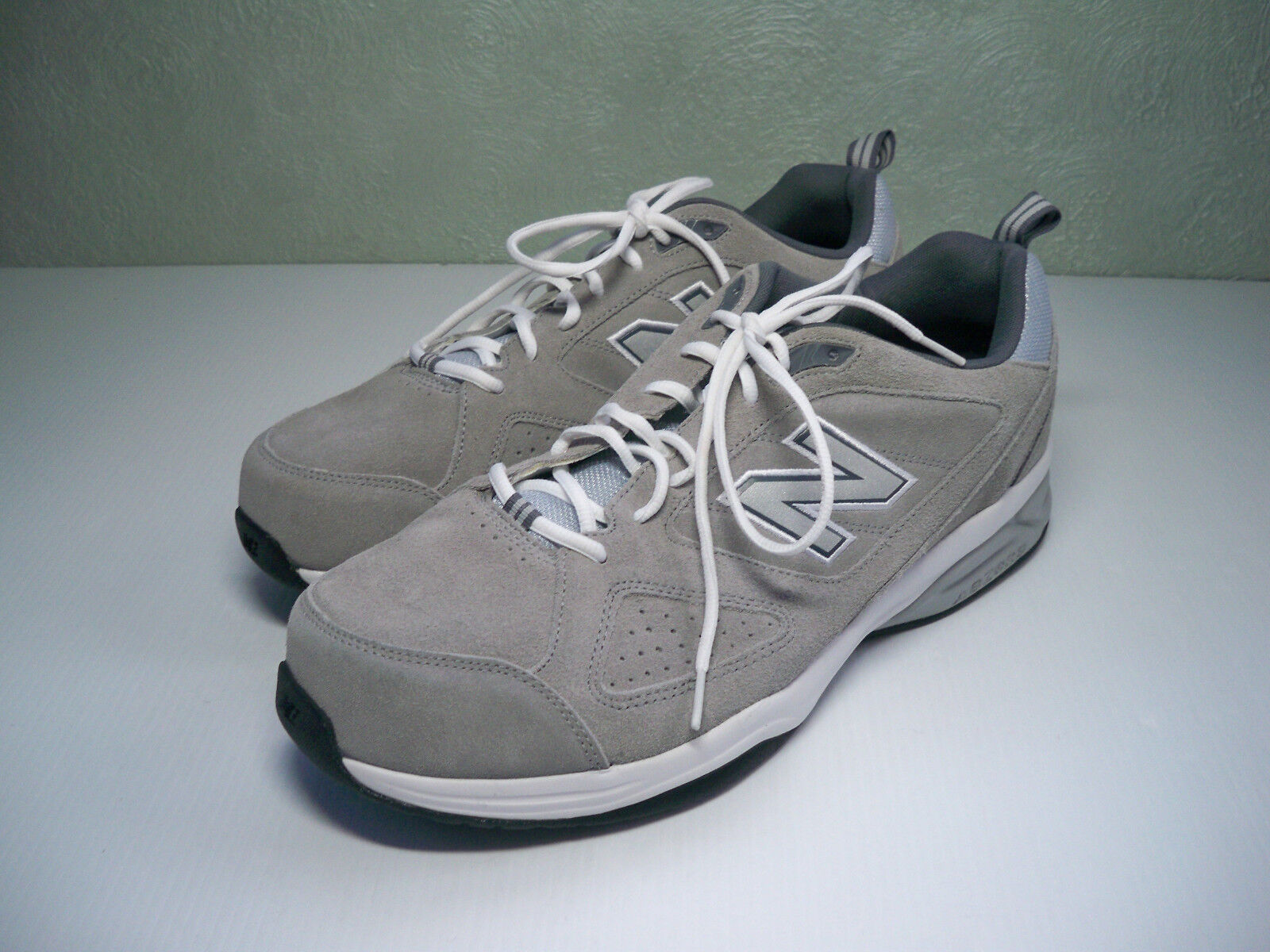 NEW New Balance 623v3 Grey Suede MX623GS3 Comfort Running sneakers mens SZ 15 4E