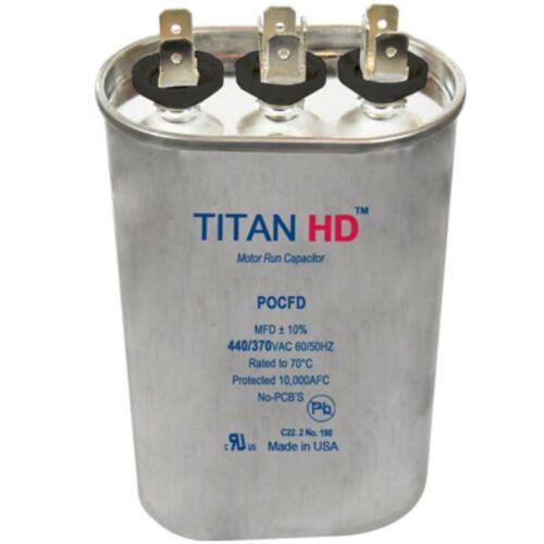 Mars Replacement Titan Hd Run Capacitor 65+10 Mfd 440//370V Oval 12810 By Titan
