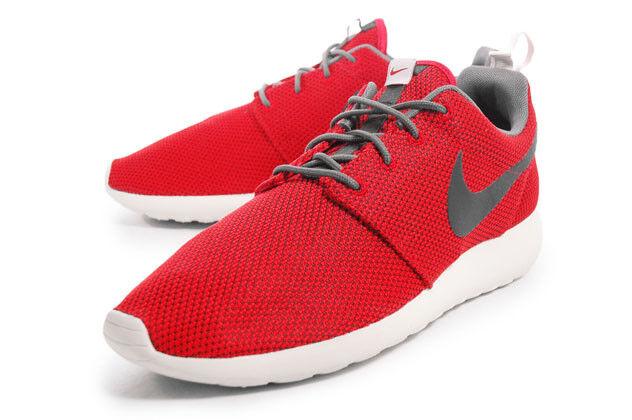 Nike Rosherun University Red Velvet Brown Grey running roshe 511811-622