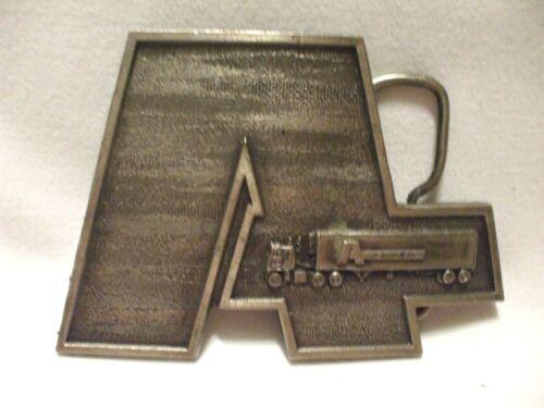 Vintage 1977 Bergamont Brass Works Belt Buckle Adv