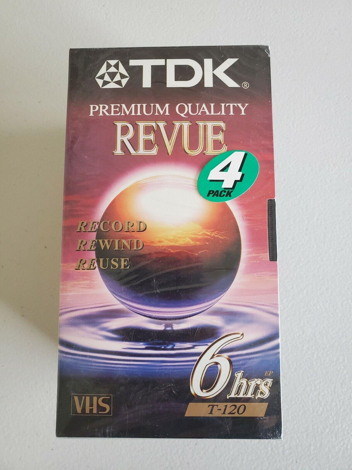 SET OF 3 TDK T-120 REVUE STANDARDS GRADE VHS VIDEO CASSETTE TAPE 6 HRS