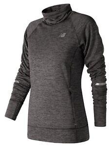 New-Balance-Women-039-s-Heat-Pullover-Grey