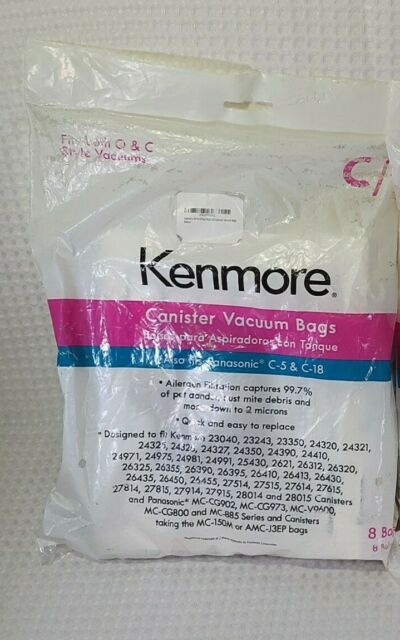 Kenmore Vacuum Bags - Type C & Q - 50104 (8-Pack) ***FREE SHIPPING***